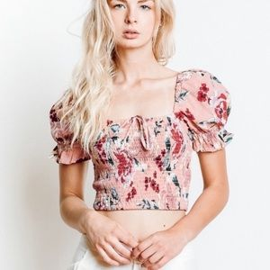 Band of Gypsies mauve crop top NWT size Xs